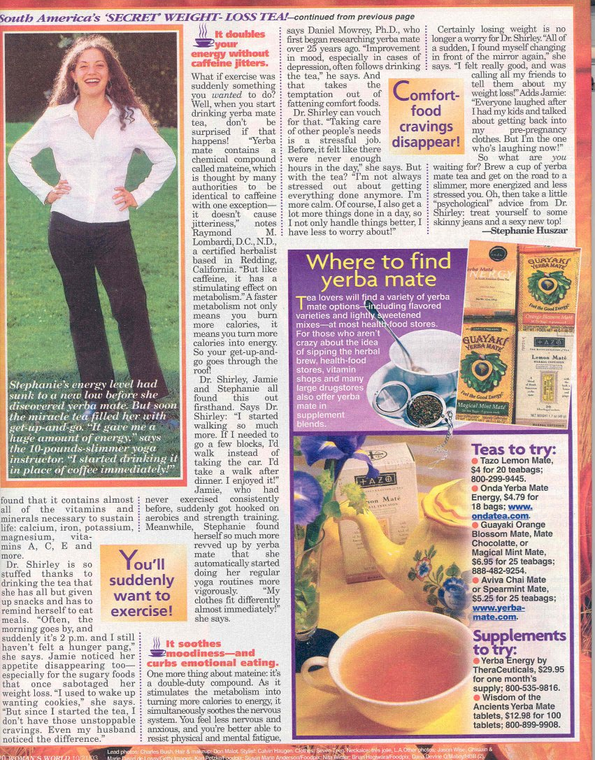 USA About Weight Loss Tea Article